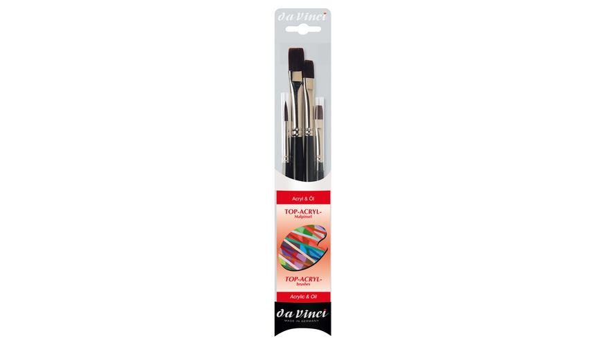 da Vinci Pinsel-Set Acryl- und Ölmalerei 4er