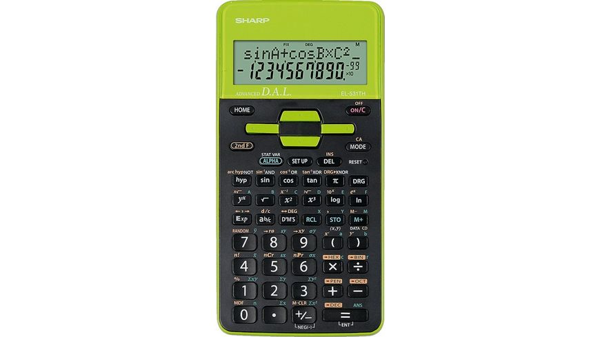 SHARP Taschenrechner EL 531THGR