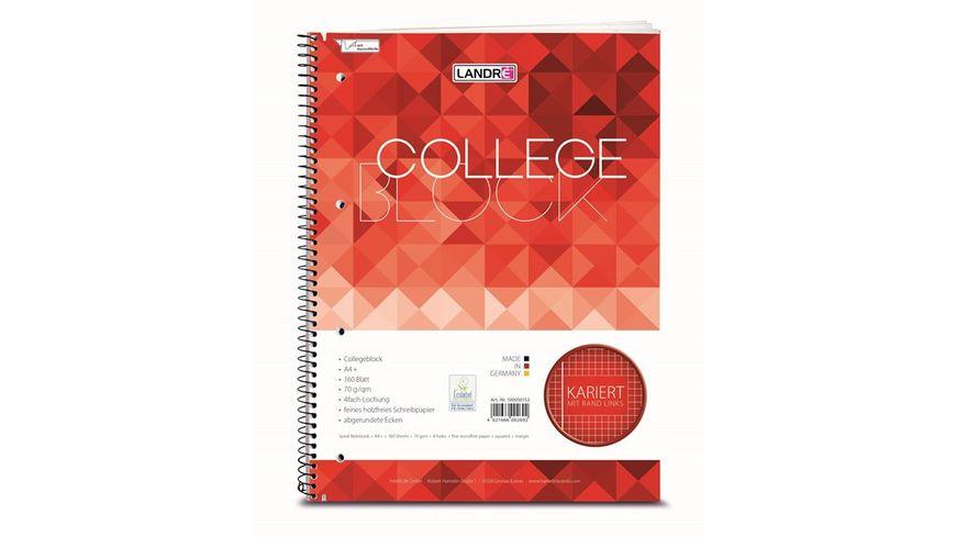 Collegeblock A4 160 Blatt kariert