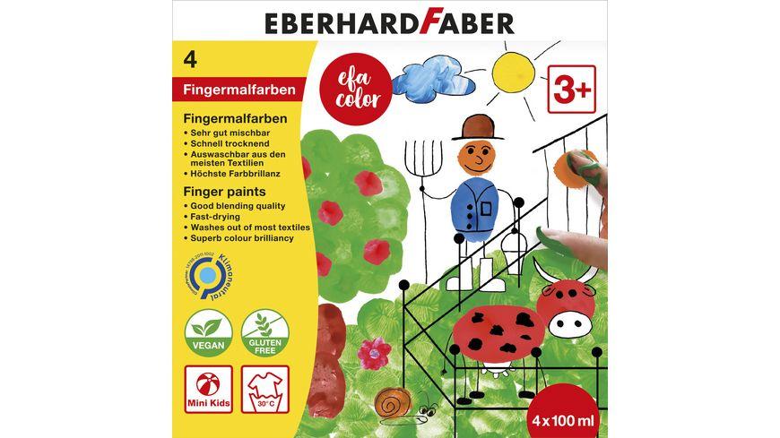EBERHARD FABER Color Fingermalfarbe 4er Set