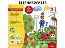 EBERHARD FABER Fingerfarbe 4er Set