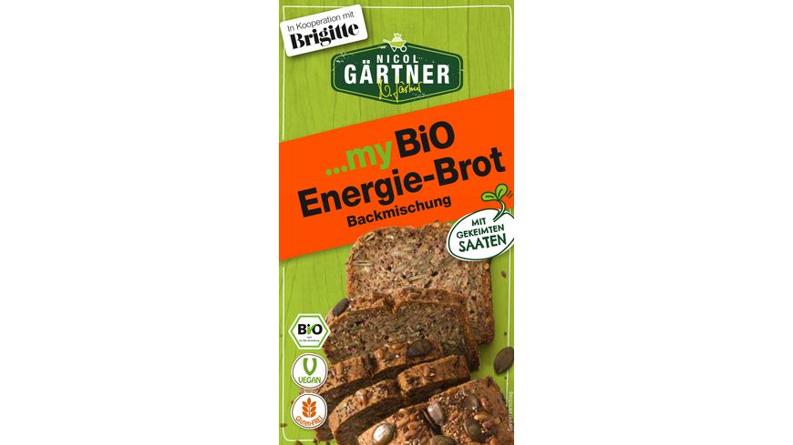 NICOL GAeRTNER myBIO Brotbackmischung Energie Brot
