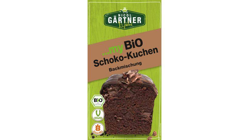 NICOL GAeRTNER myBIO Kuchenbackmischung Schoko Kuchen
