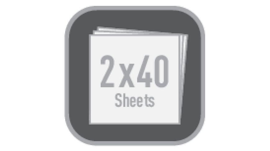 my book flex Notizheft Refill A4 2x40Blatt liniert