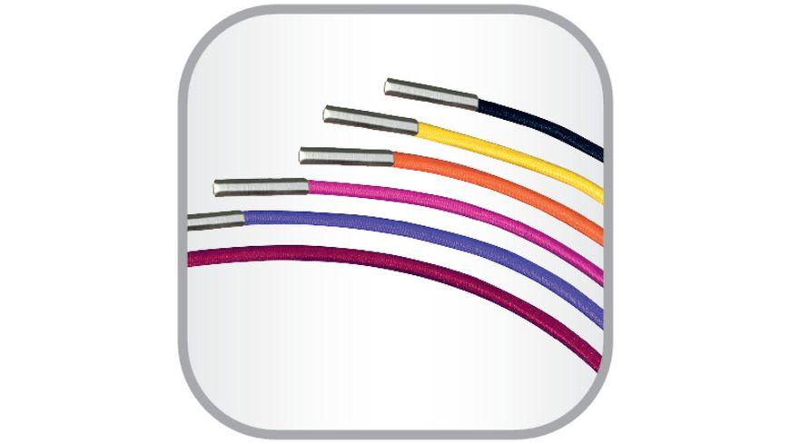 my book flex Gummibandset fuer Notizheft A5 orange violett pink