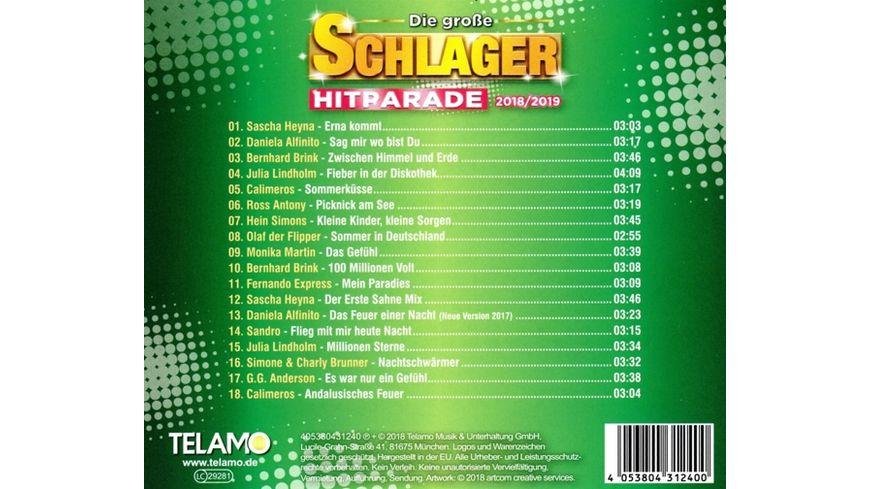 Die grosse Schlager Hitparade 2018 2019