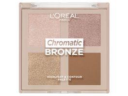 L OREAL PARIS Chromatic Bronze Highlight Contour Palette