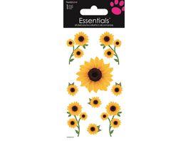 Handgemachte 3D Motiv Sticker Sonnenblumen