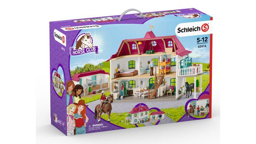 Schleich 42416 Horse Club Grosser Pferdehof mit Wohnhaus und Stall