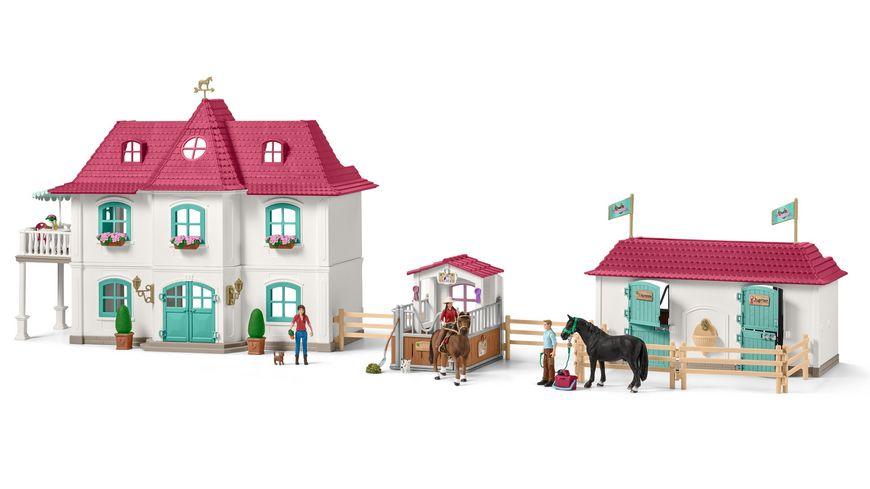 Schleich Horse Club Grosser Pferdehof mit Wohnhaus und Stall