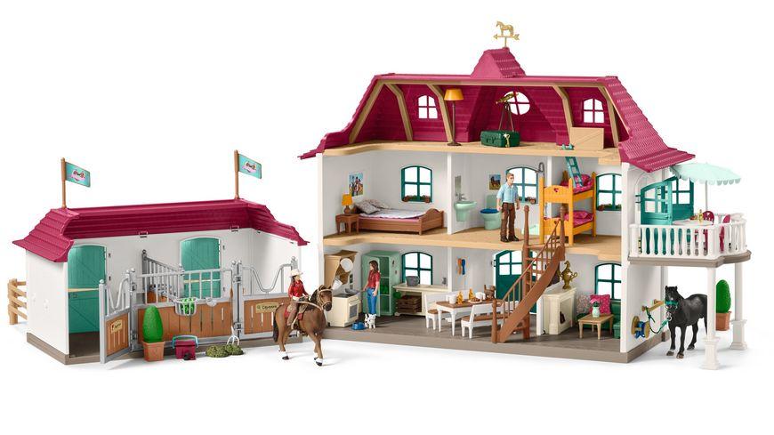 schleich horse club gro er pferdehof mit wohnhaus und. Black Bedroom Furniture Sets. Home Design Ideas