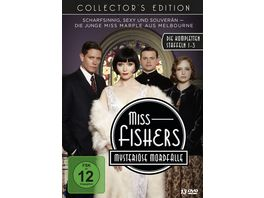 Miss Fishers mysterioese Mordfaelle Collector s Edition Die kompletten Staffeln 1 3 mit allen 34 Episoden 13 DVDs