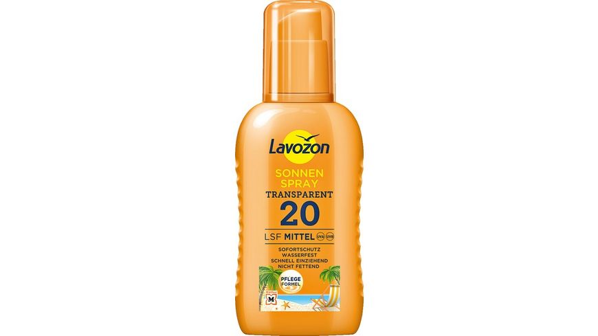 LAVOZON Transparentes Sonnenspray LSF 20
