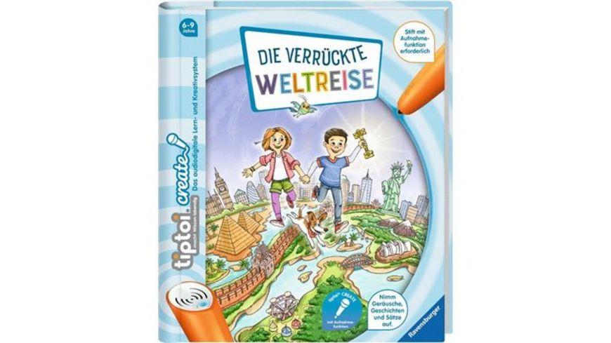 Ravensburger Spiel tiptoi Create Die verrueckte Weltreise