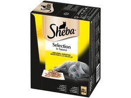 SHEBA Portionsbeutel Multipack Selection in Sauce Gefluegel Variation 12 x 85g