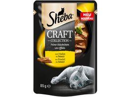 Sheba Katzennassfutter Craft Collection Feine Stueckchen mit Huhn