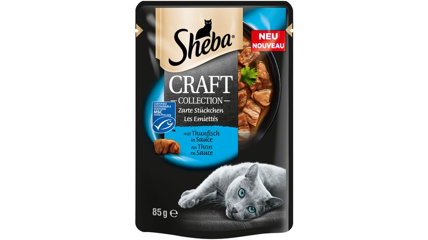 Sheba Katzennassfutter Craft Collection Zarte Stueckchen mit Thunfisch MSC