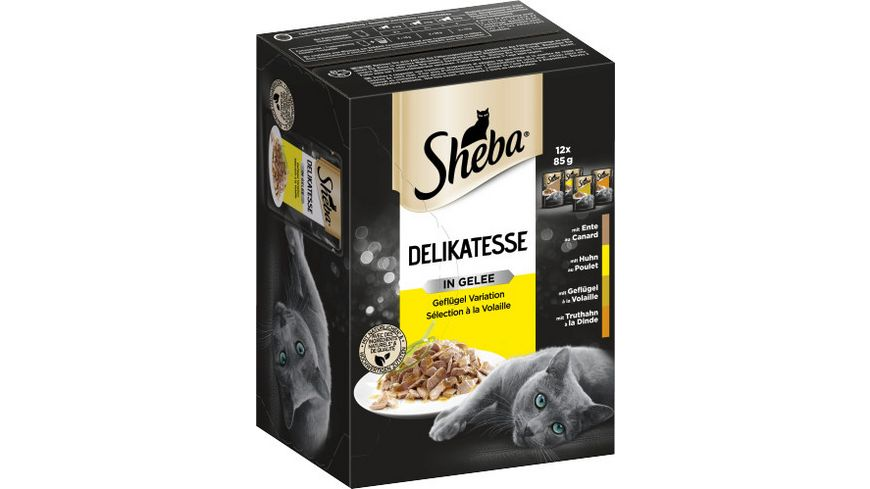 Sheba Katzennassfutter Delikatesse in Gelee Gefluegel Variation Multipack