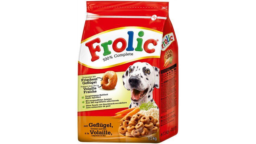 Frolic Hundetrockenfutter mit Gefluegel Gemuese und Reis