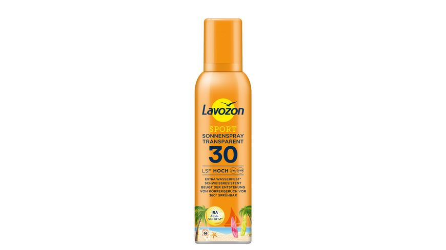 LAVOZON Sport Sonnenspray Transparent LSF 30