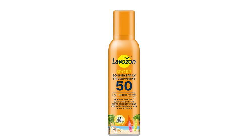 LAVOZON Sport Sonnenspray Transparent LSF 50