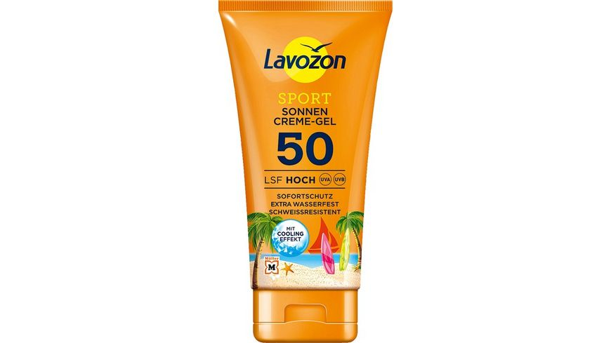 LAVOZON SPORT Sonnencreme Gel LSF 50