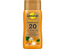 LAVOZON BRONZE Summer Milch LSF 20
