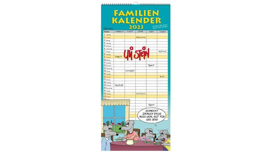 Uli Stein Familienplaner 2022