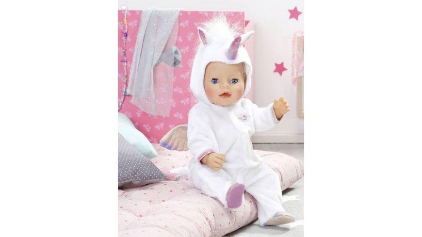 Zapf Creation Baby born Kuschelanzug Einhorn