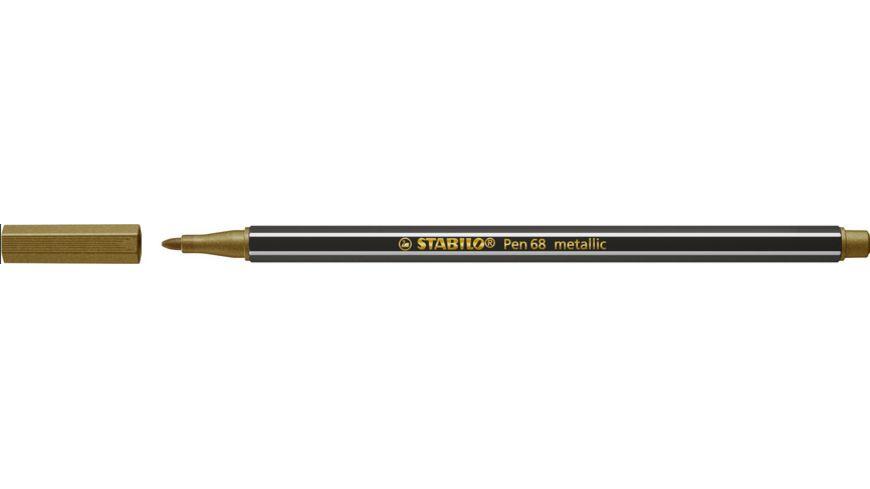 STABILO® Premium Metallic-Filzstift - STABILO Pen 68 metallic - Einzelstift - gold