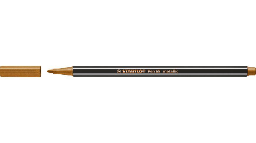 STABILO® Premium Metallic-Filzstift - STABILO Pen 68 metallic - Einzelstift - kupfer