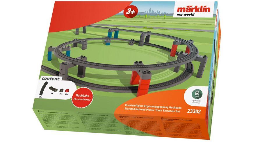 Maerklin 23302 Maerklin my world Kunststoffgleis Ergaenzungspackung Hochbahn