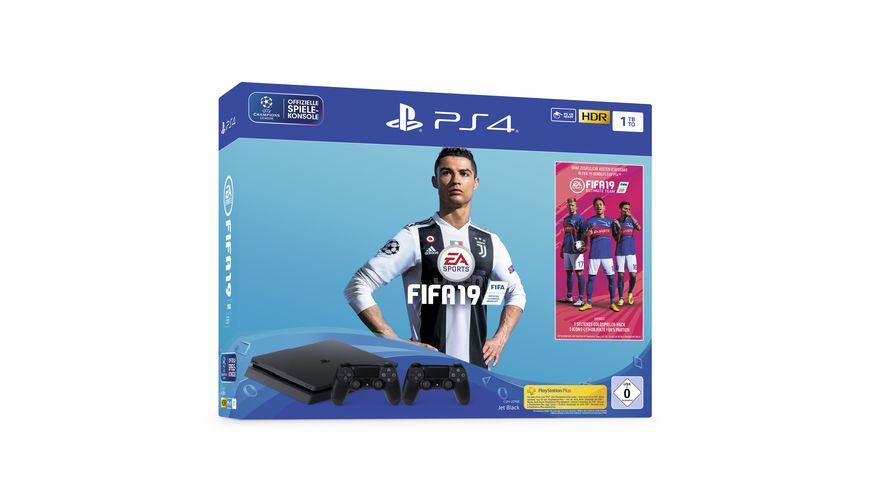 PS4 Konsole 1 TB mit Fifa 19 und 14 Tage PS Plus