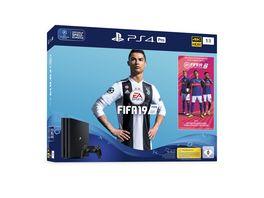 PS4 Pro Konsole 1 TB mit Fifa 19 und 14 Tage PS Plus