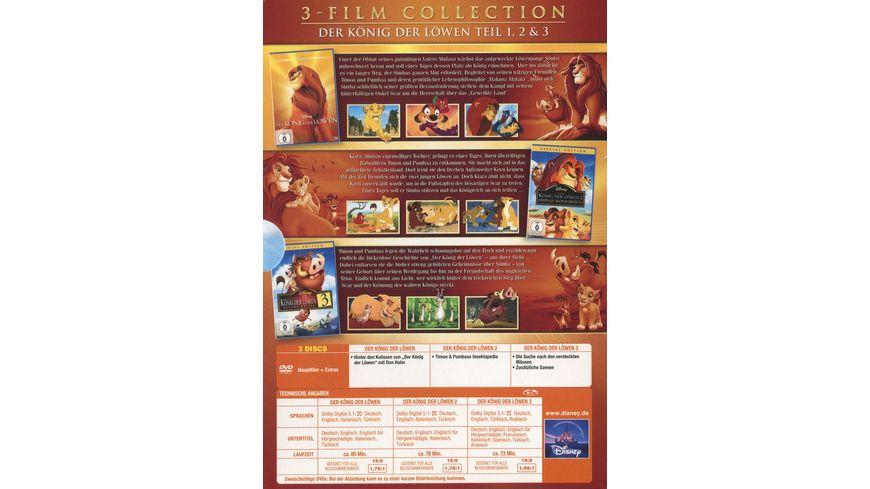 Der Koenig der Loewen Dreierpack Disney Classics 2 3 Teil 3 DVDs