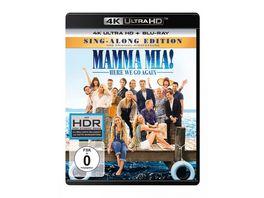 Mamma Mia Here We Go Again 4K Ultra HD Blu ray 2D