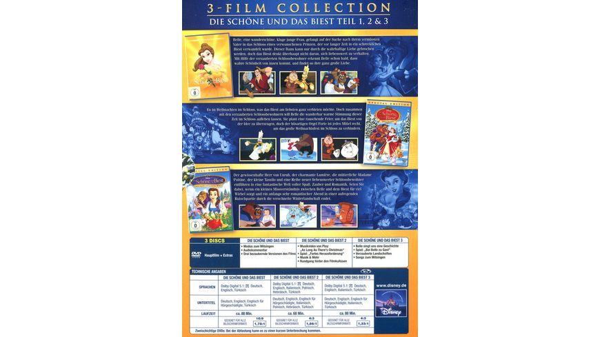 Die Schoene und das Biest Dreierpack Disney Classics 2 3 Teil 3 DVDs