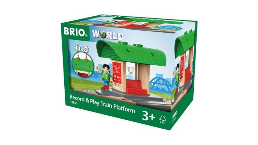 BRIO Bahn Bahnhof mit Aufnahmefunktion