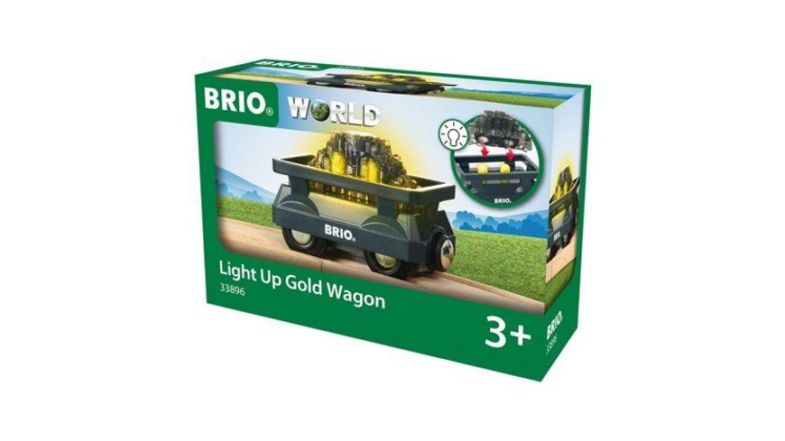 BRIO Bahn Goldwaggon mit Licht