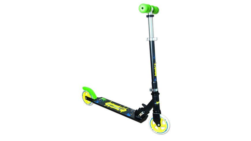 Authentic Aluminium Scooter Muuwmi schwarz gruen gelb