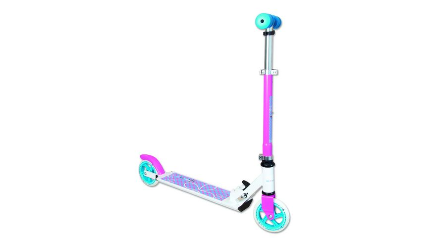 Authentic Aluminium Scooter Muuwmi weiss tuerkis pink