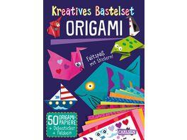 Kreatives Bastelset Origami Set mit 50 Faltboegen Anleitungsbuch und Falzhilfe