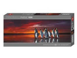 Heye Panoramapuzzle 1000 Teile King Penguins