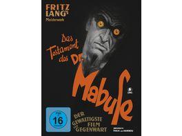 Das Testament des Dr Mabuse Limitiertes Mediabook Restaurierte Fassung DVD