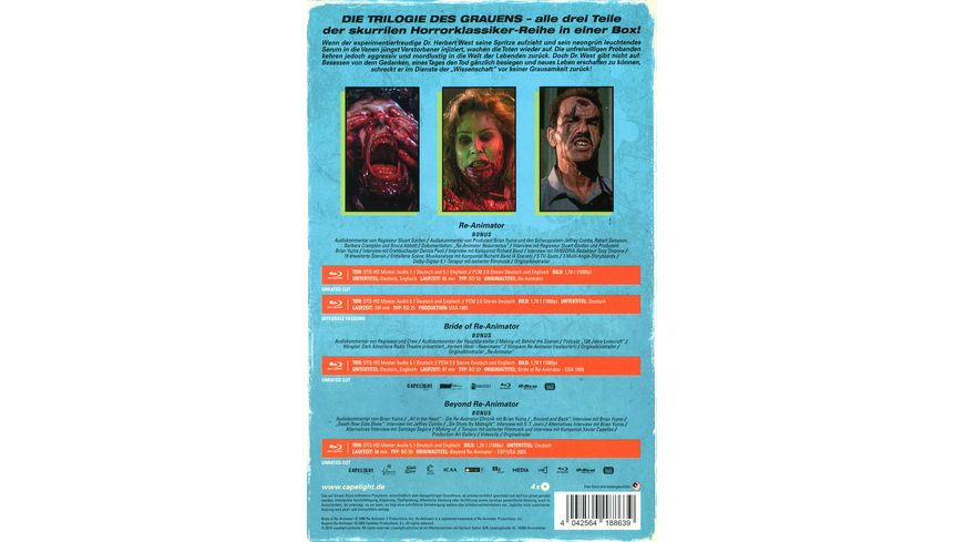 Re Animator 1 3 4 Disc Limited Collector s Edition im VHS Design 4 BRs