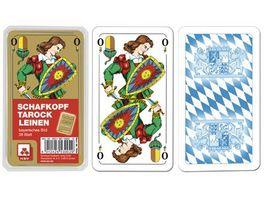 Nuernberger Spielkarten Schafkopf Premium Leinen bayerisches Bild im Klarsichtetui