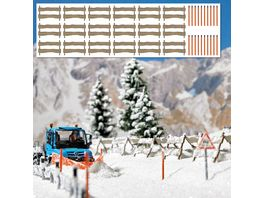 Busch Modellbau Schneefangzaeune und Schneestangen