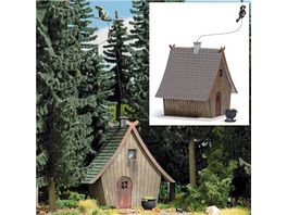 BUSCH 1679 H0 Hexenhaus mit fliegender Hexe