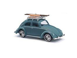 BUSCH 42734 VW Kaefer Brezelfenster mit Dachgepaecktraeger 1 87