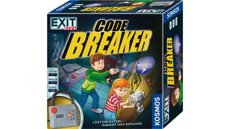 KOSMOS EXIT Kids Code Breaker Loest die Raetsel und knackt das Schloss